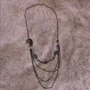 Black necklace with beads